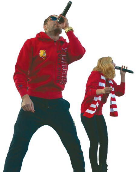 """Karmin's Nick Noonan and Amy Hiedemann perform songs from their new album """"Pulses"""" for the Ferris Fest crowd. The duo got their start by performing cover songs on YouTube."""