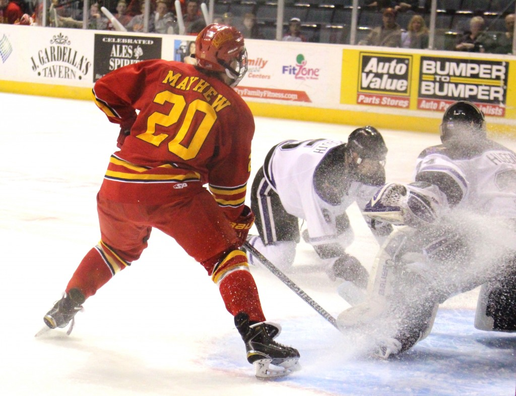 The Bulldogs defeated Minnesota State for the second time in a row, with the previous victory coming in the WCHA Championship Game.